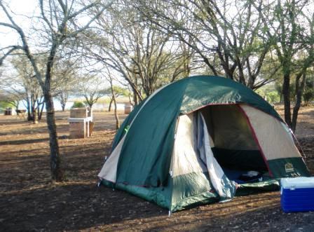 Jozini Dam Camping. Campsite at Jozini. Fish Eagle Fishing Camp